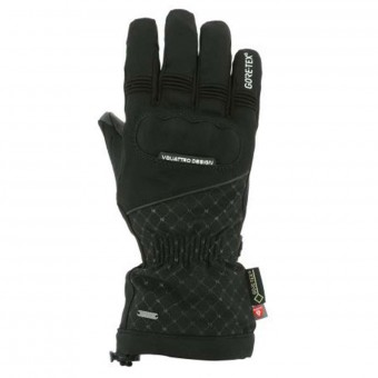 Motorcycle Gloves V'Quattro Azzura Gore-Tex Black