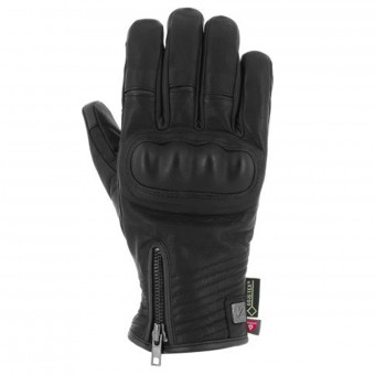 Motorcycle Gloves V'Quattro Cafe Racer Gore-Tex Black