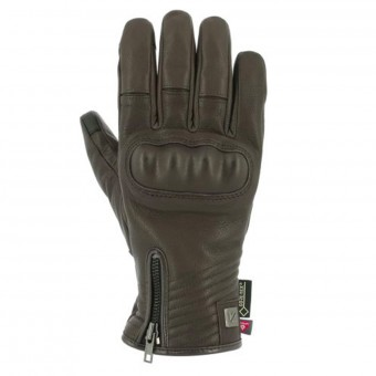 Motorcycle Gloves V'Quattro Cafe Racer Gore-Tex Brown