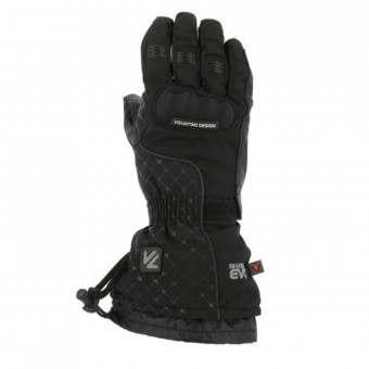 Motorcycle Gloves V'Quattro Chiara 17 Heated Black