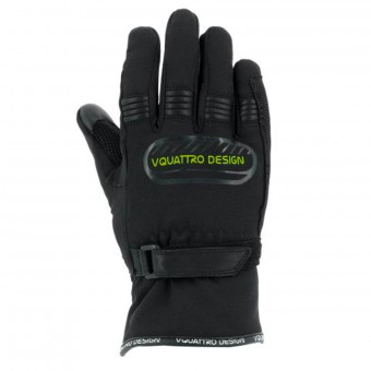 Motorcycle Gloves V'Quattro Core 17 Kid Black Green