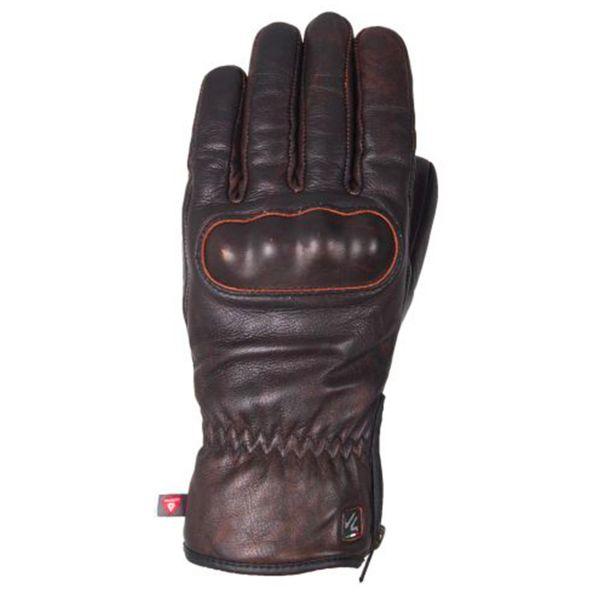 Motorcycle Gloves V'Quattro Eton Brown