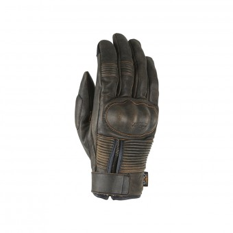 Motorcycle Gloves Furygan James D3O All Season Brown Rusted