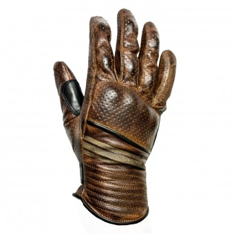 Motorcycle Gloves Helstons Corporate Perfore Camel Black