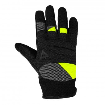 Motorcycle Gloves Dainese Fogal Unisex Black Yellow Fluo