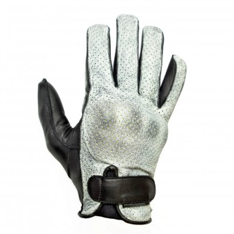Motorcycle Gloves Helstons Mizo White Black