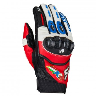 Motorcycle Gloves Furygan RG19 Zarco Blue White Red