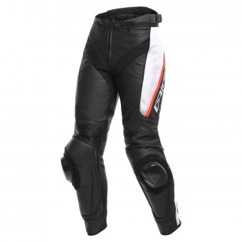 Motorcycle Trousers Dainese Delta 3 Black White Red
