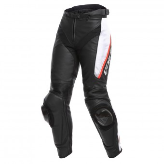 Motorcycle Trousers Dainese Delta 3 Lady Black White Red