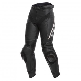 Motorcycle Trousers Dainese Delta 3 Lady Black White