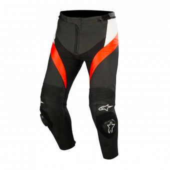 Motorcycle Trousers Alpinestars Missile Black White Red Fluo