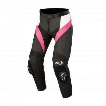 Motorcycle Trousers Alpinestars Stella Missile Black White Fuchsia