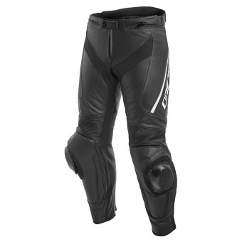 Motorcycle Trousers Dainese Delta 3 Black White