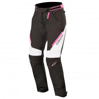 Motorcycle Trousers Alpinestars Stella Raider Drystar Black White Fuchsia