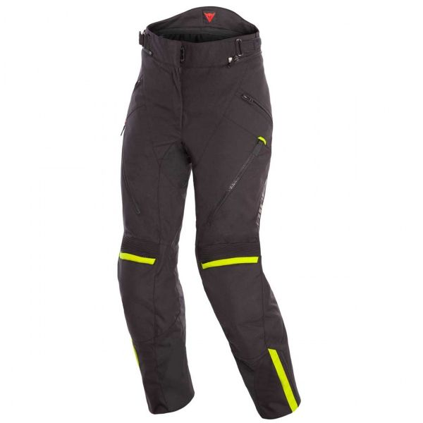 Motorcycle Trousers Dainese Tempest 2 Lady D-Dry Pants Black Fluo Yellow