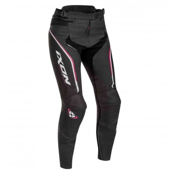 Motorcycle Trousers Ixon Trinity Pant Black White Fuchsia