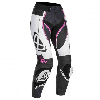 Motorcycle Trousers Ixon Vortex Lady Pant Black White Fuchsia
