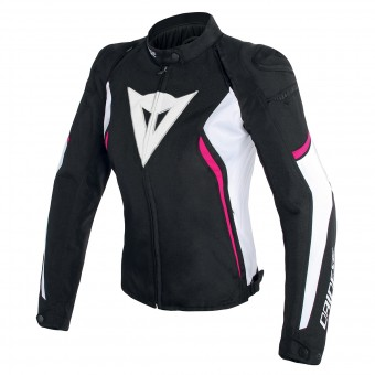 Motorcycle Jackets Dainese Avro D2 Lady Black White Fuscia