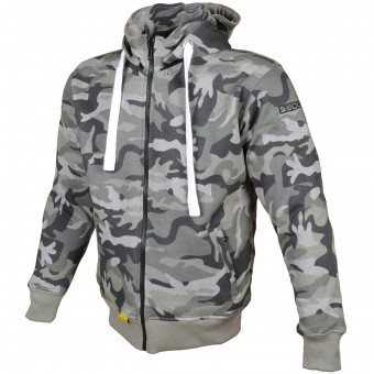 Motorcycle Jackets Booster Hoodie Kevlar Core Dark Camo
