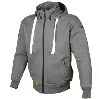 Motorcycle Jackets Booster Hoodie Kevlar Core Dark Grey