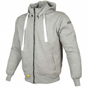 Motorcycle Jackets Booster Hoodie Kevlar Core Light Grey