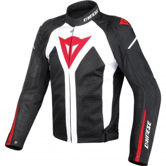 Motorcycle Jackets Dainese Hyper Flux D-Dry White Black Red