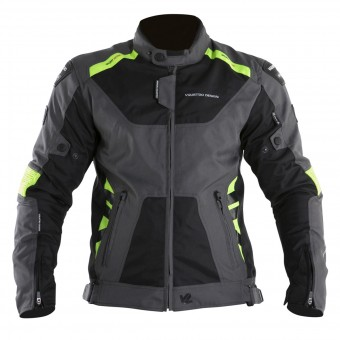 Motorcycle Jackets V'Quattro SP-21 Black Grey Yellow