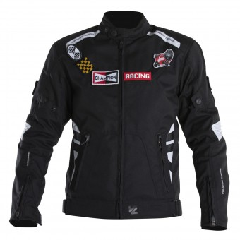 Motorcycle Jackets V'Quattro SP-21 Kid Black White