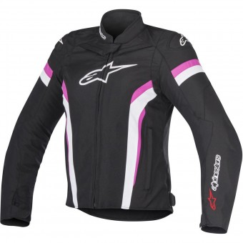 Motorcycle Jackets Alpinestars Stella T-GP Plus R V2 Air Black White Fuchsia