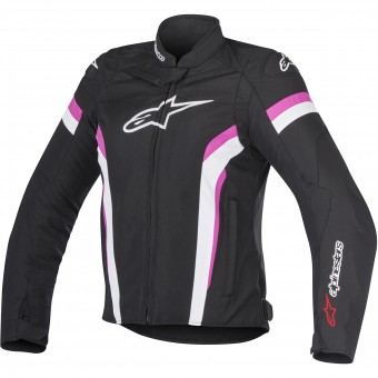 Motorcycle Jackets Alpinestars Stella T-GP Plus R V2 Black White Fuchsia