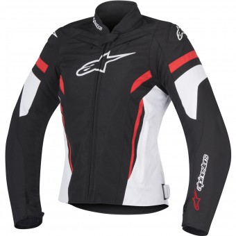 Motorcycle Jackets Alpinestars Stella T-GP Plus R V2 Black White Red