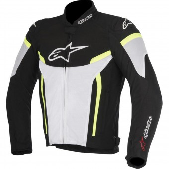 Motorcycle Jackets Alpinestars T-GP Plus R V2 Air Black White Yellow Fluo