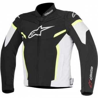 Motorcycle Jackets Alpinestars T-GP Plus R V2 Black White Yellow Fluo