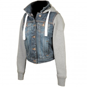 Motorcycle Jackets Booster Denim Hoodie Lady