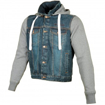 Motorcycle Jackets Booster Denim Hoodie Men