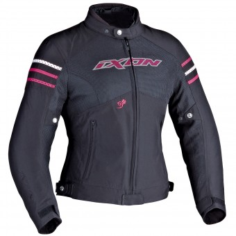 Motorcycle Jackets Ixon Electra Black White Fuchsia