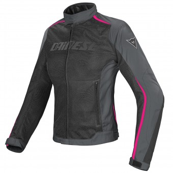 Motorcycle Jackets Dainese Hydra Flux Lady D-Dry Black Ebony Fuschia