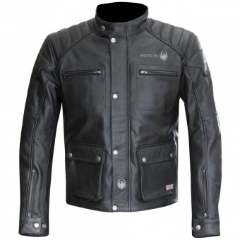 Motorcycle Jackets Merlin Keele Leather Black