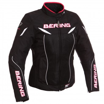 Motorcycle Jackets Bering Lady Kwerk Black White Fuchsia