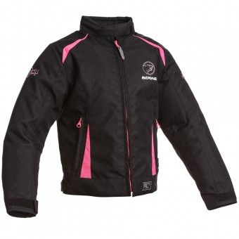 Motorcycle Jackets Bering Lady Mellisa Kid Black Fuschia