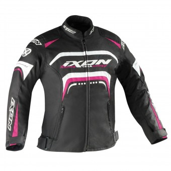 Motorcycle Jackets Ixon Lover Kid Black White Fuchsia