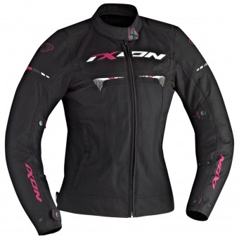 Motorcycle Jackets Ixon Pitrace Lady Black White Fuchsia