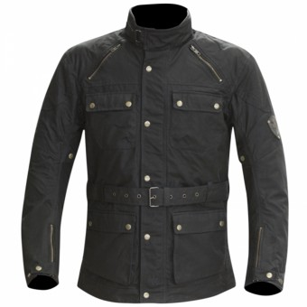 Motorcycle Jackets Merlin Rowan Wax Black