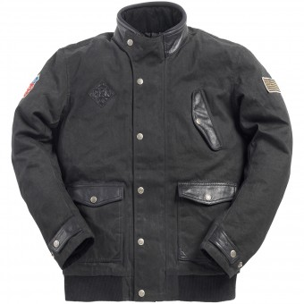 Motorcycle Jackets Ride & Sons Runaway Black Waxed