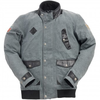 Motorcycle Jackets Ride & Sons Runaway Grey Waxed