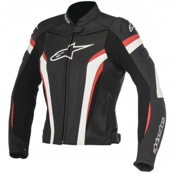 Motorcycle Jackets Alpinestars Stella GP Plus R V2 Black White Red