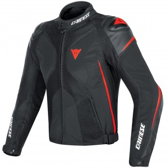 Motorcycle Jackets Dainese Super Rider D-Dry Black Red Fluo