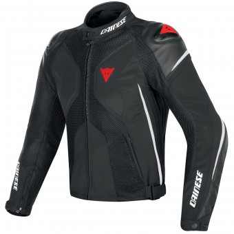 Motorcycle Jackets Dainese Super Rider D-Dry Black White Fluo