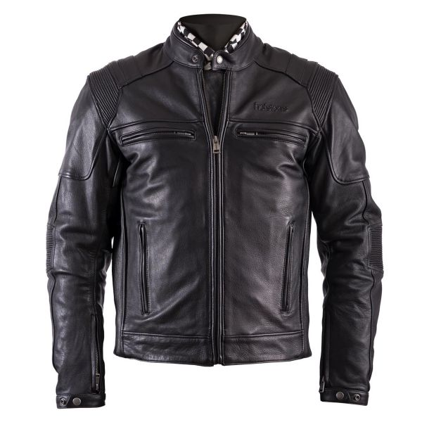 motorcycle jackets helstons trust leather plain black at. Black Bedroom Furniture Sets. Home Design Ideas