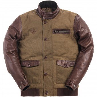 Motorcycle Jackets Ride & Sons Varsity Army Brown